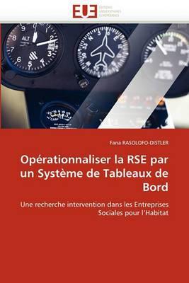 Operationnaliser La Rse Par Un Systeme de Tableaux de Bord