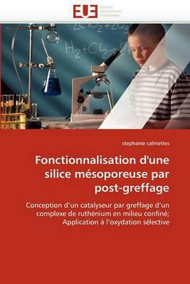 Fonctionnalisation D''Une Silice Mesoporeuse Par Post-Greffage