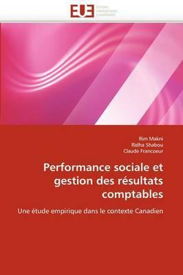 Performance Sociale Et Gestion Des Resultats Comptables