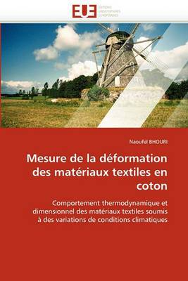 Mesure de La Deformation Des Materiaux Textiles En Coton