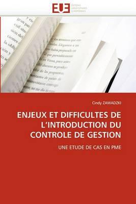 Enjeux Et Difficultes de L Introduction Du Controle de Gestion