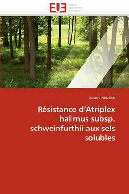 Resistance D''Atriplex Halimus Subsp. Schweinfurthii Aux Sels Solubles