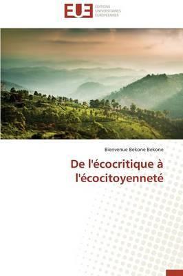 de L'Ecocritique A L'Ecocitoyennete