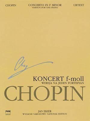 Fryderyk Chopin Konceet F-Moll Op.21: Na Fortepian I Orkiestre, Wersja Na Jeden Fortepian