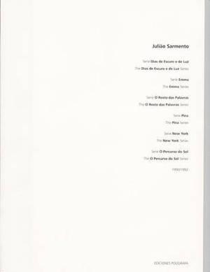 Juliao Sarmento: v. 1: 1990-1992