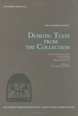 The Carlsberg Papyri: v. 1: Demotic Texts from the Collection