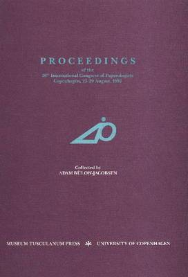 Proceedings of the 20th International Congress of Papyrologists