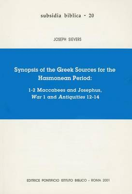 Synopsis of the Greek Source of the Hasmonean Peroid