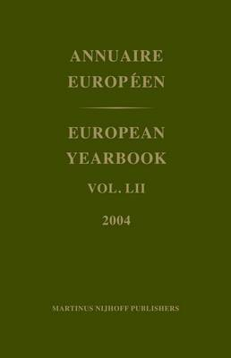 European Yearbook / Annuaire Europeen: 2004