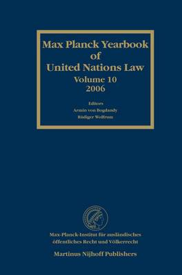 Max Planck Yearbook of United Nations Law: 2006