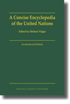 A Concise Encyclopedia of the United Nations