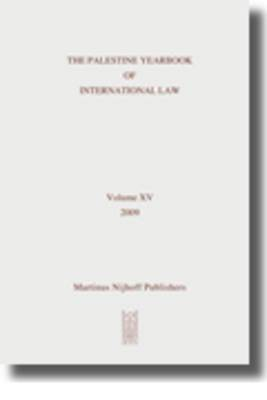 The Palestine Yearbook of International Law: 2009