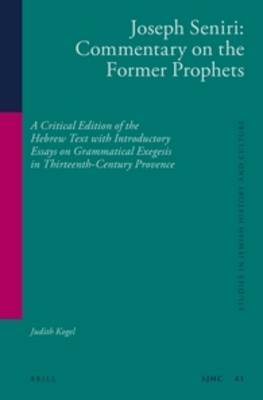 Joseph Seniri: Commentary on the Former Prophets: A Critical Edition of the Hebrew Text with Introductory Essays on Grammatical Exegesis in Thirteenth-Century Provence