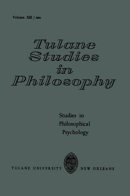 Studies in Philosophical Psychology