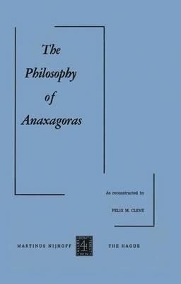 The Philosophy of Anaxagoras