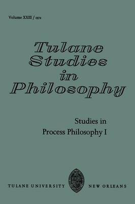 Studies in Process Philosophy I: No. 1