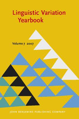 Linguistic Variation Yearbook 2007