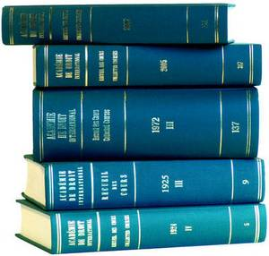 Recueil des Cours, Collected Courses,: Collected Courses of the Hague Academy of International Law: 1994