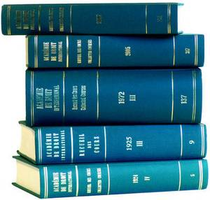 Recueil des Cours, Collected Courses: Collected Courses of the Hague Academy of International Law: 1995