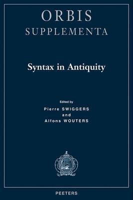 Syntax in Antiquity