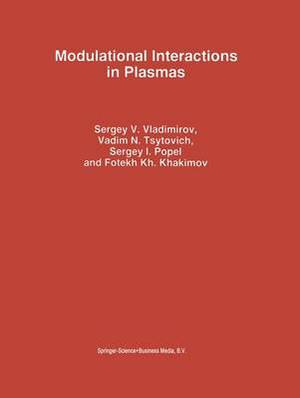 Modulational Interactions in Plasmas