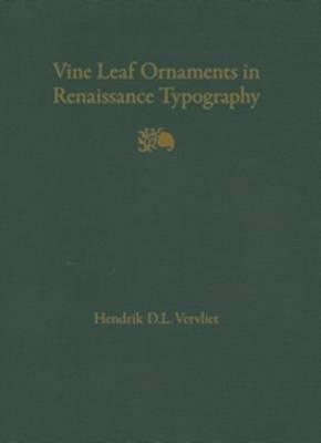 Vine Leaf Ornaments in Renaissance Typography: A Survey