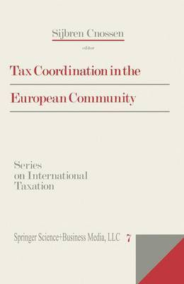Tax Co-ordination in the European Community