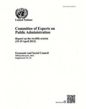 Committee of Experts on Public Administration: report on the twelfth session (15-19 April 2013)