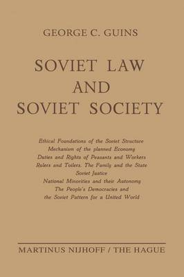 Soviet Law and Soviet Society: Ethical Foundations of the Soviet Structure. Mechanism of the Planned Economy. Duties and Rights of Peasants and Workers. Rulers and Toilers. The Family and the State. Soviet Justice. National Minorities and Their Autonomy.