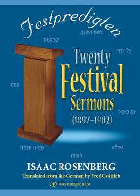 Festpredigten: Twenty Festival Sermons, 1897-1902