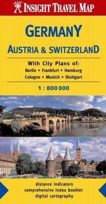 Germany, Austria, Switzerland Insight Travel Map
