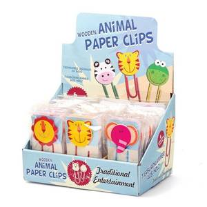 Wooden Animal Paper Clips