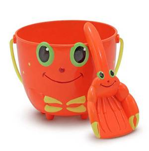 Melissa and Doug Clicker Crab Pail and Shovel Sand Toys