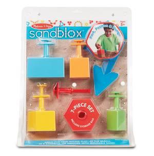 Melissa and Doug Sandblox - 7-Piece Sand Shaping Set