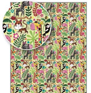 Rachel Ellen Gift Wrap - Jungle Animals