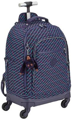 Kipling Echo Wheeled School Bag - Blue Dash C
