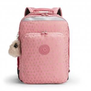 Kipling College Up Large Laptop Backpack - Pink Gold Drop