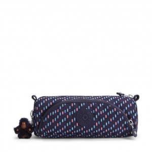 Kipling Cute Pencil Case - Blue Dash C