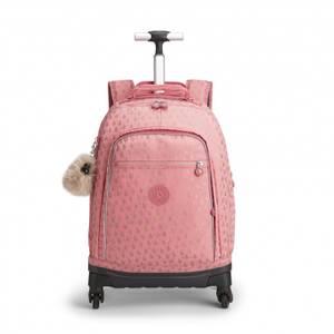 Kipling Wheeled School Bag - Echo Pink Gold Drop