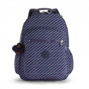 Kipling Seoul Go Large Laptop Backpack -Blue Dash C
