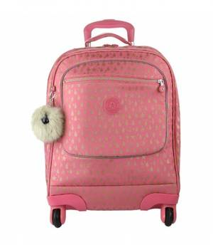 Kipling Licia School Bag - Pink Gold Drop
