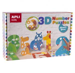 APLI Stickers Game - 3D Number Puzzle
