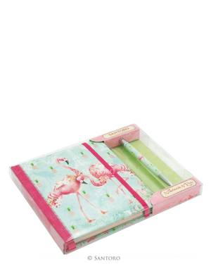 Santoro Flamingos Notebook And Pen Set