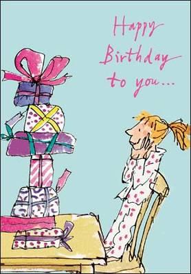 Woodmansterne Quentin Blake Birthday Presents Card (365621)