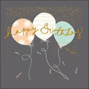 Woodmansterne Birthday Balloons Card (404887)