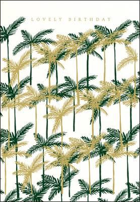 Woodmansterne Lovely Birthday Palms Card (430916)