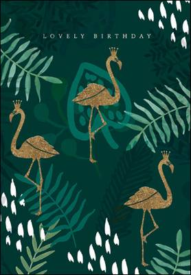 Woodmansterne Lovely Birthday Flamingo Card (430947)
