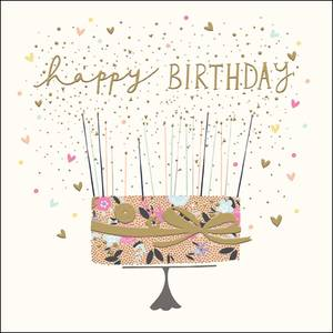 Woodmansterne Elegant Cake Birthday Card (433726)