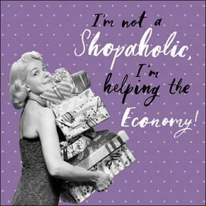 Woodmansterne I'm Not A Shopaholic Card (440465)