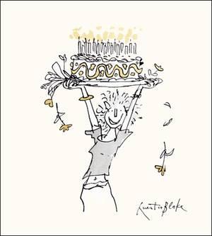 Woodmansterne Quentin Blake Birthday Cake Card (442926)